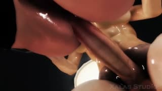 This Realistic Hentai Features An Oily Girl With Massive Oppais And A Huge Chinko All For You To See From A Great Point Of View